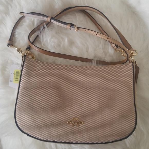 Coach Handbags - NWT COACH LEGACY BEIGE TAN SHOULDER CROSSBODY BAG